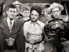 The folks taking a Sunday Drive on the Andy Griffith Show