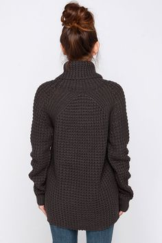 Parker Bridge Grey Sweater at Lulus.com!