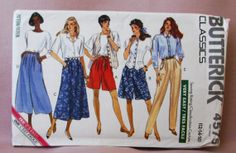 1990 Uncut  Butterick Classic  Pattern  4575 by lovelylovepatterns, $4.50
