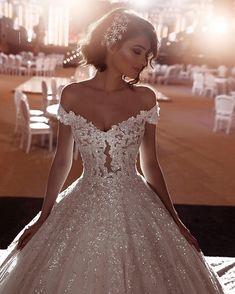 15 of the Sparkliest Wedding Dresses We've Ever Seen