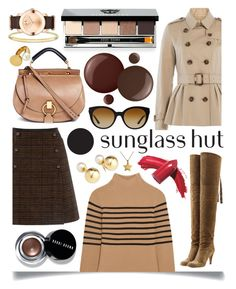"""""""Celebrate in Every Shade with Sunglass Hut: Contest Entry"""" by ittie-kittie ❤ liked on Polyvore featuring Burberry, Topshop Unique, Oasis, Chloé, Versace, Bobbi Brown Cosmetics, Yoko London, Essie, Thomas Sabo and Elizabeth Arden"""