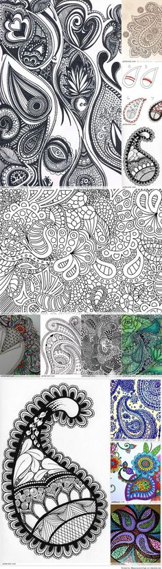 Zentangle Paisley