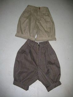 Making knickers from thrift store pants.