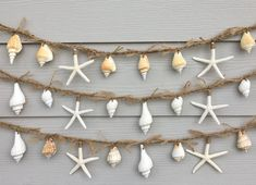 0 3 Knobby Starfish And Square Rope Ladders Garland
