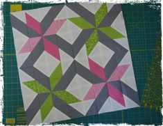 new star block for my xmas quilt