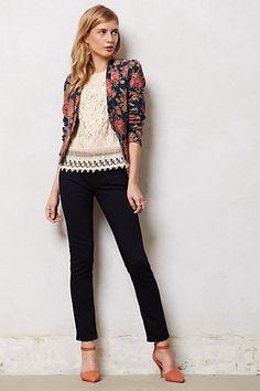 LOVE it all! Anthropologie MiH Ellsworth Skinny Jeans & Floral Blazer