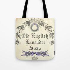 Old English Lavender Tote Bag