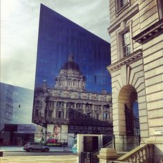 reflections (port of liverpool) in new Mann island project