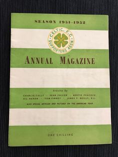 No 2 Celtic Association Handbook 1951/2 Fabulous Condition See Photos Rare Find   eBay