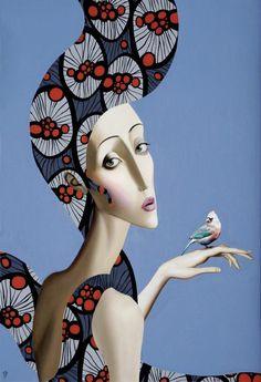 Vintage Ladies Display Charm and Style in Retro Paintings by Slava Fokk - My Modern Met