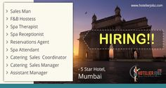 It the #Hiring times everywhere in the hotelier industry!!  Now it's in #Mumbai A 5-star hotel based in Mumbai is on look out to fill large vacancies! Full details and application link here:https://goo.gl/8uMsaz