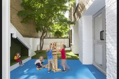 Nicholas Kirk Architects embeds 'niches, nooks and crannies' into Bermondsey nursery Nook And Cranny, South London, Nursery, Community, Building, Outdoor Decor, Home Decor, Baby Room, Buildings