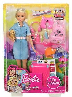 Barbie Pink Passport Black White Star Print Shirt REGULAR CURVY PETITE