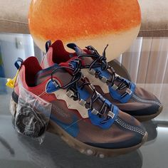 pretty nice 9f661 e57b8 UNDERCOVER x Nike React Element 87 Chalk Blue Red Black Size US10.5  fashion   clothing  shoes  accessories  mensshoes  athleticshoes (ebay link)