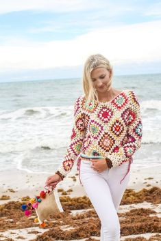 Merilee Top - Women's style: Patterns of sustainability Ethical Fashion, Slow Fashion, Granny Square Sweater, Do It Yourself Fashion, Handmade Skirts, Cardigan Fashion, Crochet Fashion, Crochet Designs, Crochet Clothes