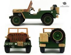 Jeep Willys madera réplica coleccionable  MP Ford GPW 1942