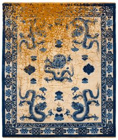 Inspired by his travels to Beijing, Shanghai, and imperial cities such as Xi'an, Jan Kath discovered ancient dragon depictions for his work and interpreted them in the East collection in a modern way. Jan Kath, Imperial Dragon, Horse Rugs, Classical Elements, Year Of The Dragon, Legendary Creature, His Travel, Pictures Of You, Bohemian Rug