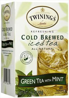 Twinings Cold Brew Green Tea With Mint Iced Tea 20 Bag Pack of 6 Review Buy Now