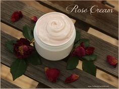 DIY Rose Face and Body Cream, no preservatives or harmful chemicals! so gonna try this!!!