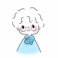 Cute Little Drawings, Cute Cartoon Drawings, Anime Girl Drawings, Anime Chibi, Anime Art, Easy Doodle Art, Cute Love Gif, Dibujos Cute, Simple Doodles
