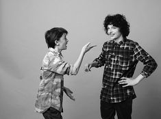 Finn Wolfhard and Noah Schnapp for Status, 2017.