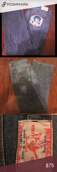 Men's jeans These jeans were lightly worn but are still in great condition. True Religion Jeans Straight
