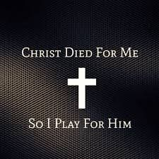 So touching he died for us so we use the talents he has given us for Him!!! <3<<<<<< I'm not an athlete but I love this quote.
