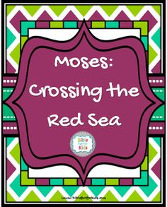 #Moses and the Red Sea Crossing lesson, visuals, ideas and printables #Biblefun #OTBiblelesson  #preschoolbiblelessons