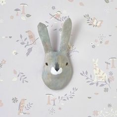 This sweet Grey Rabbit animal head is hand made using paper mâché and is perfect for adding a fairy tale woodland vibe to a little one's room. We've only got a few left in stock so hop on over to our website if you fancy getting your hands on one #hibouhome #rabbit #papermache #animalheads #woods #woodland #nurserydecor #kids #kidsroom #baby #interiors #instadecor #interiorstyling #barnuminspo