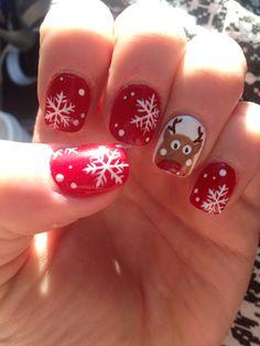 Rodolph Christmas nails :)
