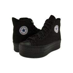 Maxstar C50 7-Holes Solid Color High Top Canvas Platform Sneakers... ($43) ❤ liked on Polyvore featuring shoes, sneakers, shoes - sneakers, black sneakers, platform shoes, platform canvas sneakers, high-top sneakers and black hi tops