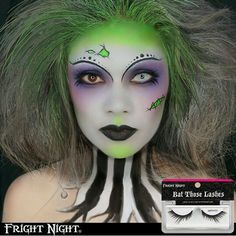 Beetlejuice makeup look
