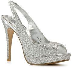 "NEW Lulu Townsend Silver Mesh Glitter Nightout Peep Toe 5"" High Heels Shoes Sz 9 #LuluTownsend #Slingbacks #Clubwear"