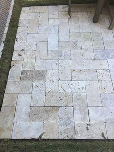 Nice travertine patio material