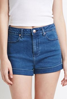 Forever 21 MidRise Denim Shorts in Blue
