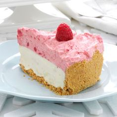 White Chocolate-Raspberry Mousse Cheesecake Recipe -Befitting Christmas Day dessert, a New Year's celebration or even a holiday tea party, one thing's for sure: These flavors are a match made in heaven.—Crystal Morris, Alliance, Ohio