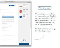 Shopping cart - #ecommerce #ux #inspiration #ui #webdesign