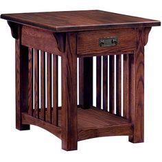 online shopping for Leick Furniture Mission Drawer End Table, Solid ash oak veneers from top store. See new offer for Leick Furniture Mission Drawer End Table, Solid ash oak veneers Oak End Tables, End Tables With Drawers, End Tables With Storage, Wood Tables, Table Storage, Mission Style End Tables, Mission Style Furniture, Mission Table, Mission Oak