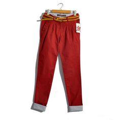 Vintage Red High Waist Pockets Casual Harem Pants only $35.99 at http://www.wendybox.com/goods-4837-Vintage+Red+High+Waist+Pockets+Casual+Harem+Pants+.html