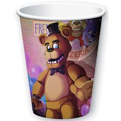 Check out Five Nights at Freddy's 9oz Cups (8 Pack) | Five Nights at Freddy's tableware and décor for your next party from Birthday in a Box from Birthday In A Box
