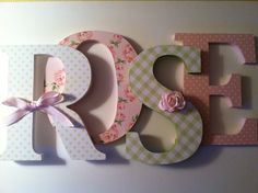 Wooden letters for nursery spelling out your by SummerOlivias, $16.00
