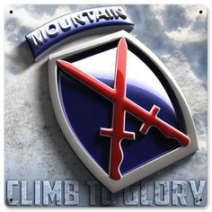 10th Mountain Metal Wall Sign - Gruntworks11b