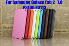 US $5.99 (Buy here: http://appdeal.ru/3ing ) PU Leather Stand Case Cover funda For Samsung Galaxy Tab 2 7.0 P3100 P3113 7 inch tablet case+Stylus Pen for just US $5.99