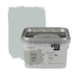 KARWEI Kleuren van Nu muurverf mat zinkgrijs 2,5 l