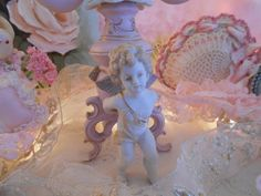 vintage romantic cherub angel candle holder by polka dot rose