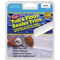 Magic American Magic Tub/Floor Peel and Stick Caulk, x Pack of 1 Bathroom Caulk, Bathroom Cleaning Tips, Mold On Bathroom Ceiling, Bathroom Hacks, Bathroom Updates, Cleaning Items, Ear Cleaning, Master Bathroom, Cleaning Supplies