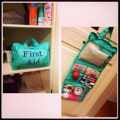 Thirty one timeless beauty bag used as a first aid kit by mimilife