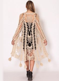 Watch This Video Beauteous Finished Make Crochet Look Like Knitting (the Waistcoat Stitch) Ideas. Amazing Make Crochet Look Like Knitting (the Waistcoat Stitch) Ideas. Gilet Crochet, Crochet Coat, Crochet Jacket, Crochet Cardigan, Crochet Shawl, Crochet Clothes, Long Cardigan, Longline Cardigan, Crochet Vests