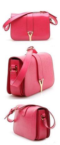 YSL red handbag.