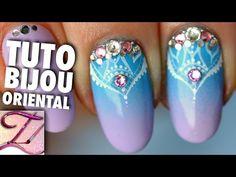Tuto nail art bijou oriental de printemps - YouTube